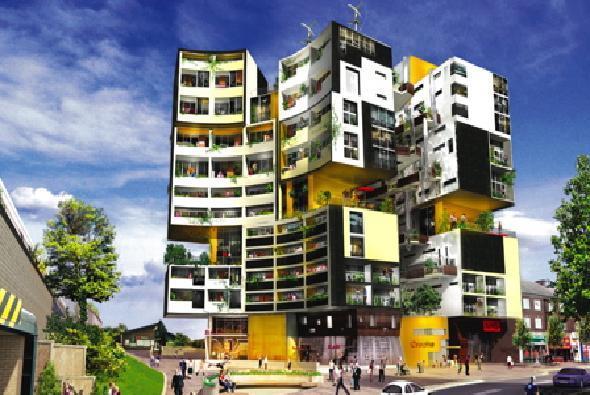 Brilliant Modern Apartment Building Plans Medium Image For