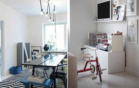 Simple Fine Finish White Apartment Design